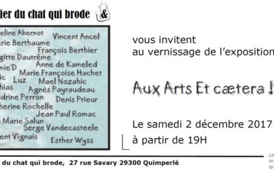 """""""Aux arts et ceatera"""" oyez, oyez vernissage à Quimperlé"""